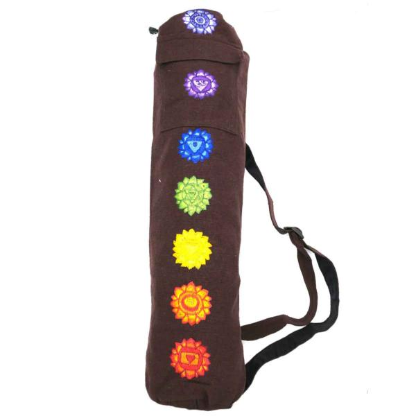 Long sac marron pour tapis de Yoga