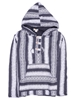 Sweat capuche tissage ethnique gris