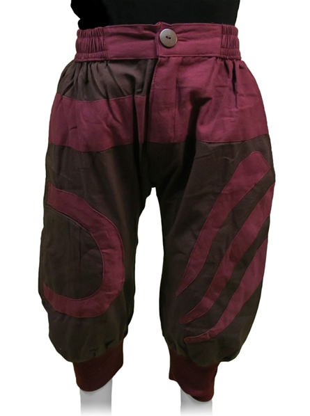Pantalon bouffant enfant bordeaux marron