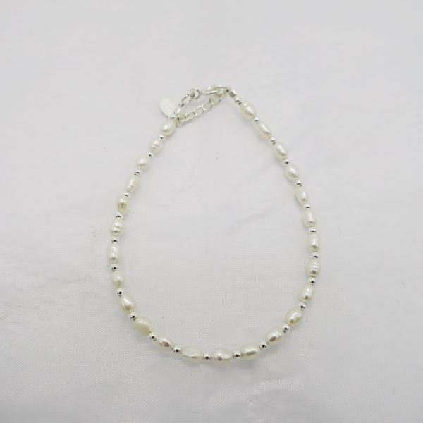 Bracelet perles blanches
