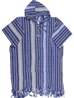 Poncho long tradition bleu marine