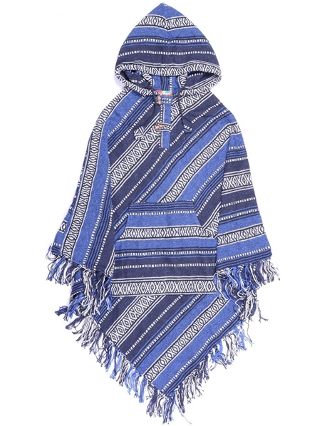 Poncho bleu marine pointu traditionnel