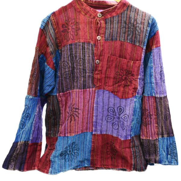 Chemise manches longues patchwork