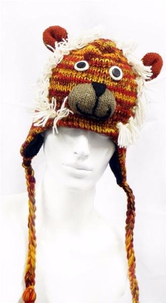 Bonnet péruvien et népalais ethnique pour homme et femme 4416f9c8261