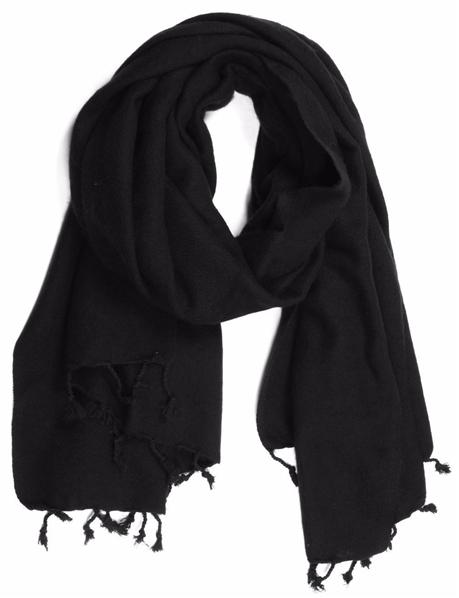 a332902d67d Grande écharpe étole en pure laine douce noire