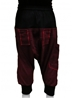 Pantalon sarouel jogging enfant bordeaux